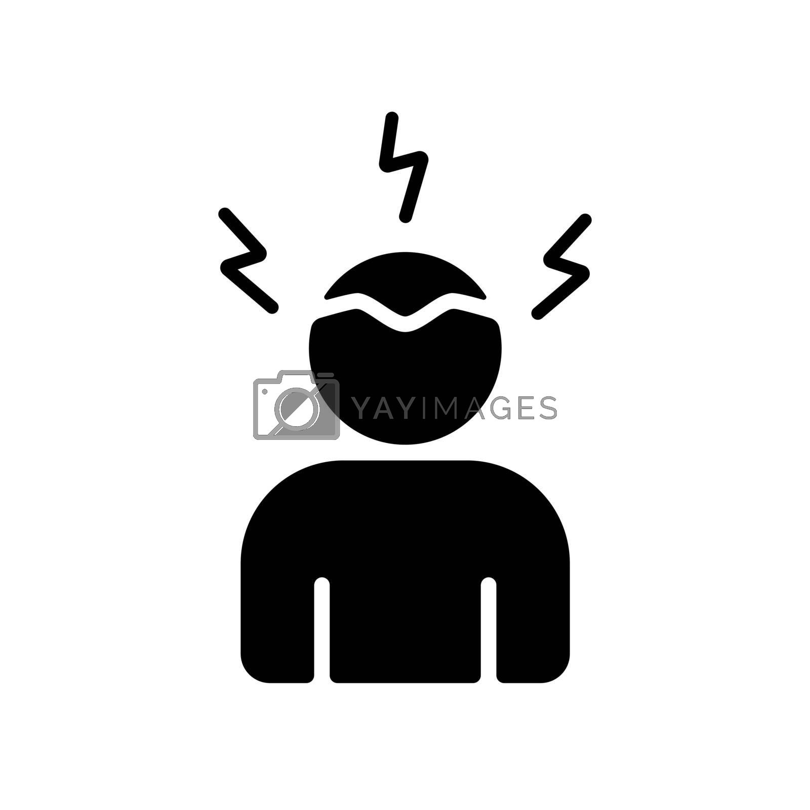 Novel Coronavirus symptoms headaches vector glyph icon. Graph symbol for medical web site and apps design, logo, app, UI
