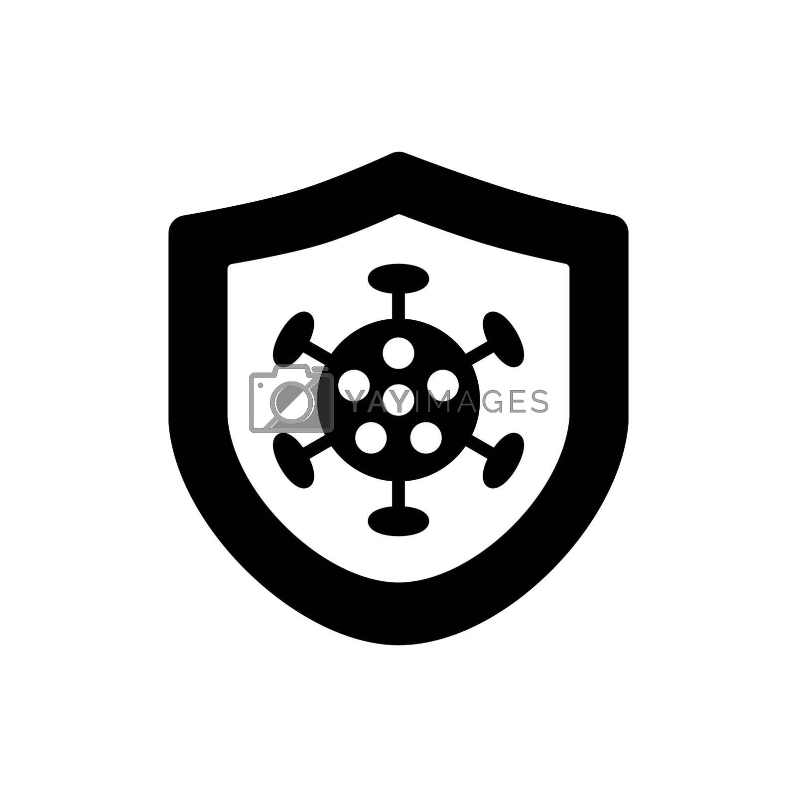 Corona virus protection vector glyph icon. Medical sign. Coronavirus. Graph symbol for medical web site and apps design, logo, app, UI