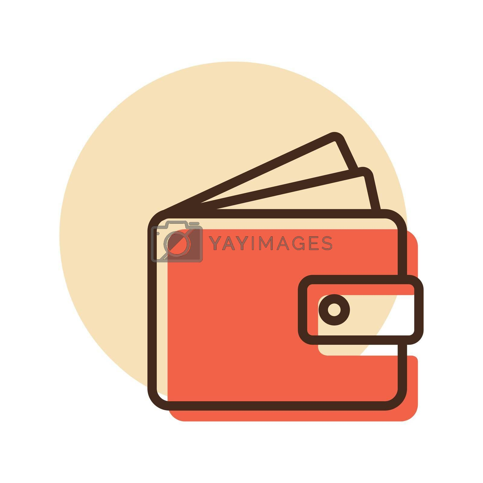 Purse icon vector. Money sign Isolated. Pay, online mobile payment, bill, payment, salary, shopping concept. E-commerce