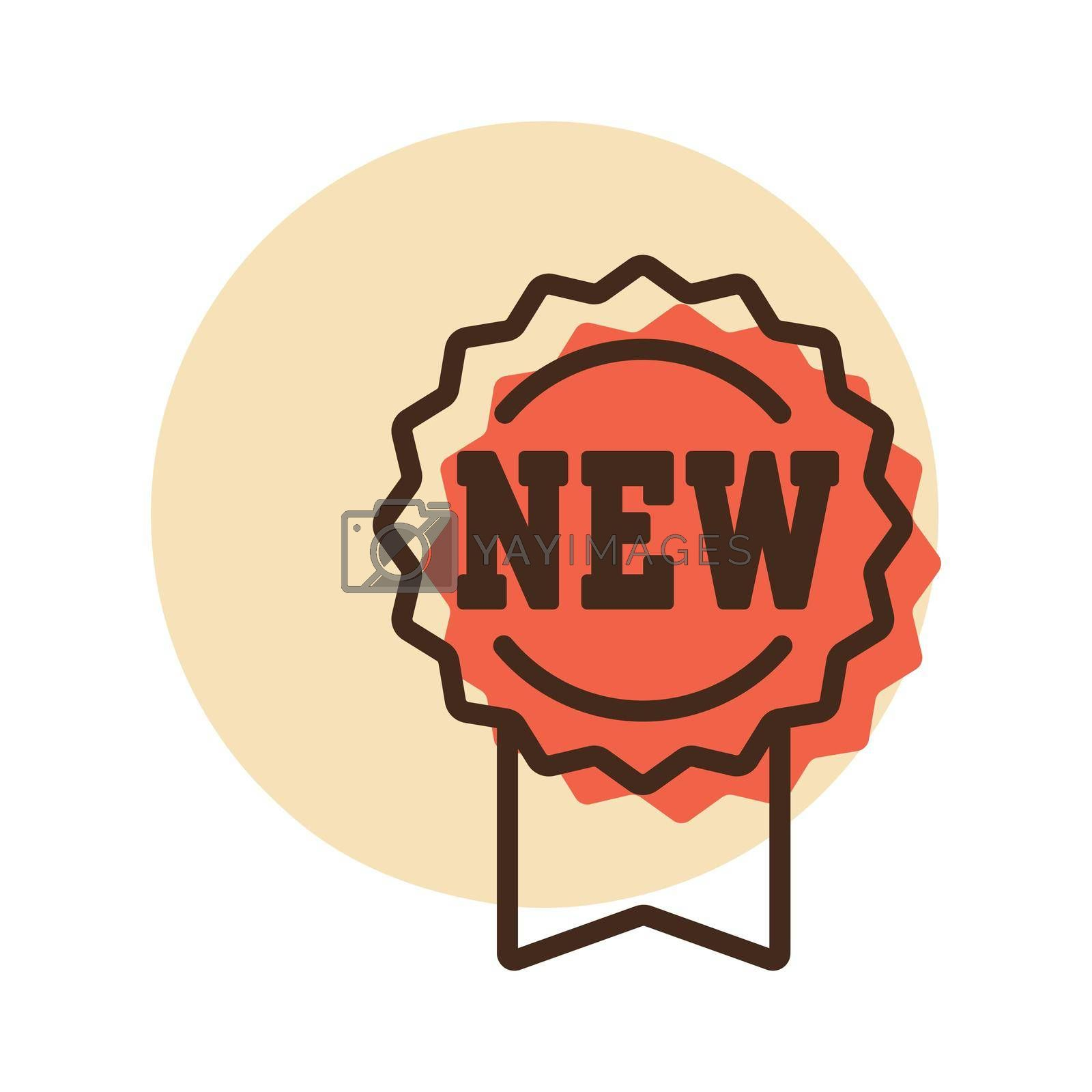 New tag and ribbons vector icon. E-commerce sign. Graph symbol for your web site design, logo, app, UI