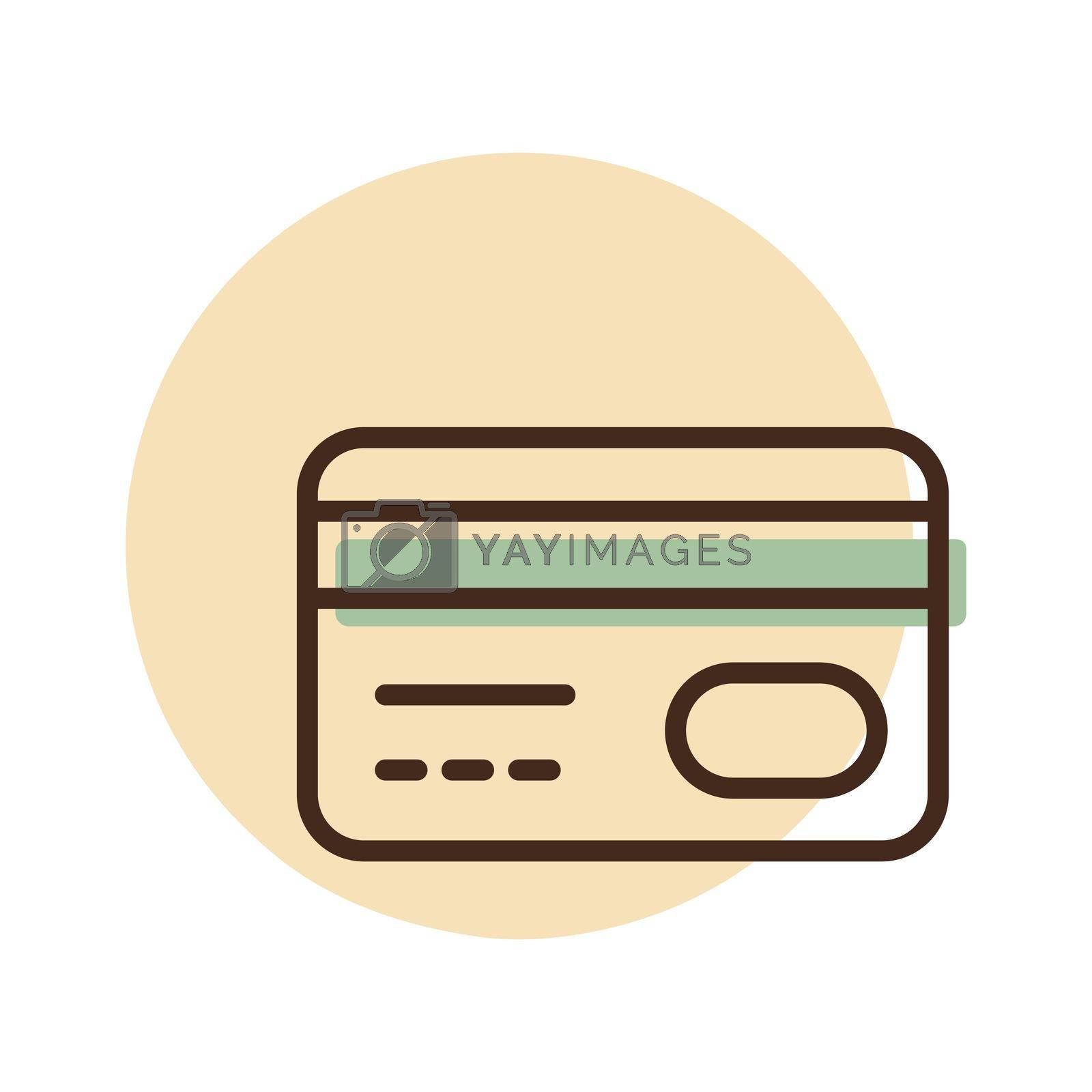 Credit card vector flat icon. Online payment. Credit debit card cash withdrawal. E-commerce sign. Graph symbol for your web site design, logo, app, UI