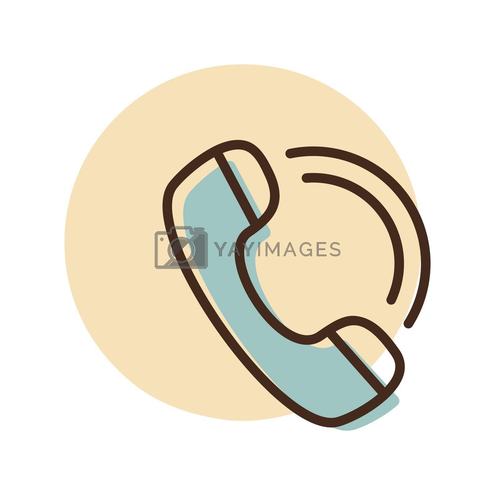 Phone handset vector icon. E-commerce sign. Graph symbol for your web site design, logo, app, UI