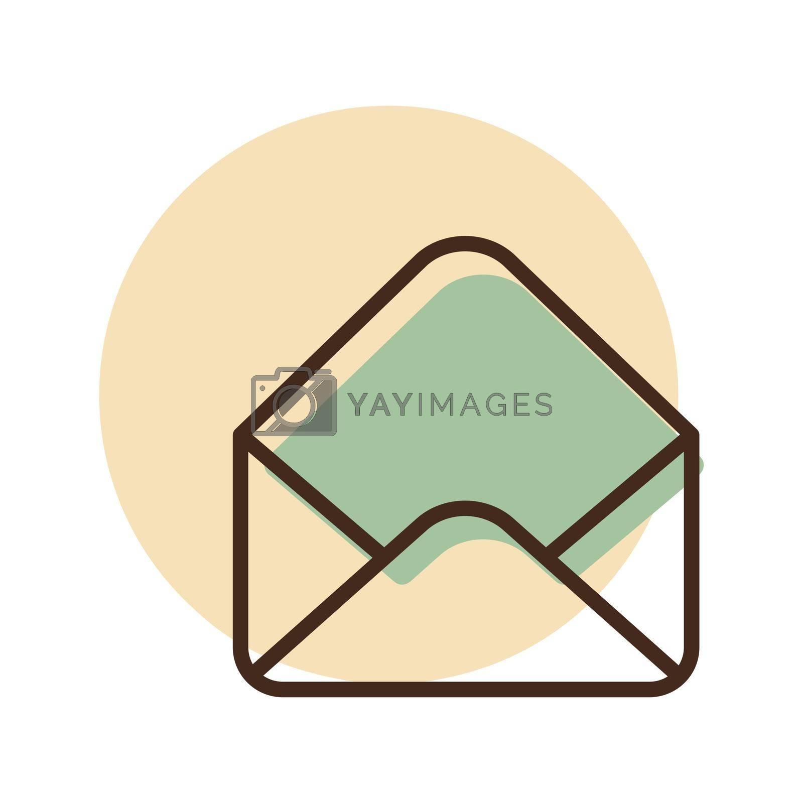 Open envelope vector icon. E-commerce sign. Graph symbol for your web site design, logo, app, UI. Vector illustration, EPS10.