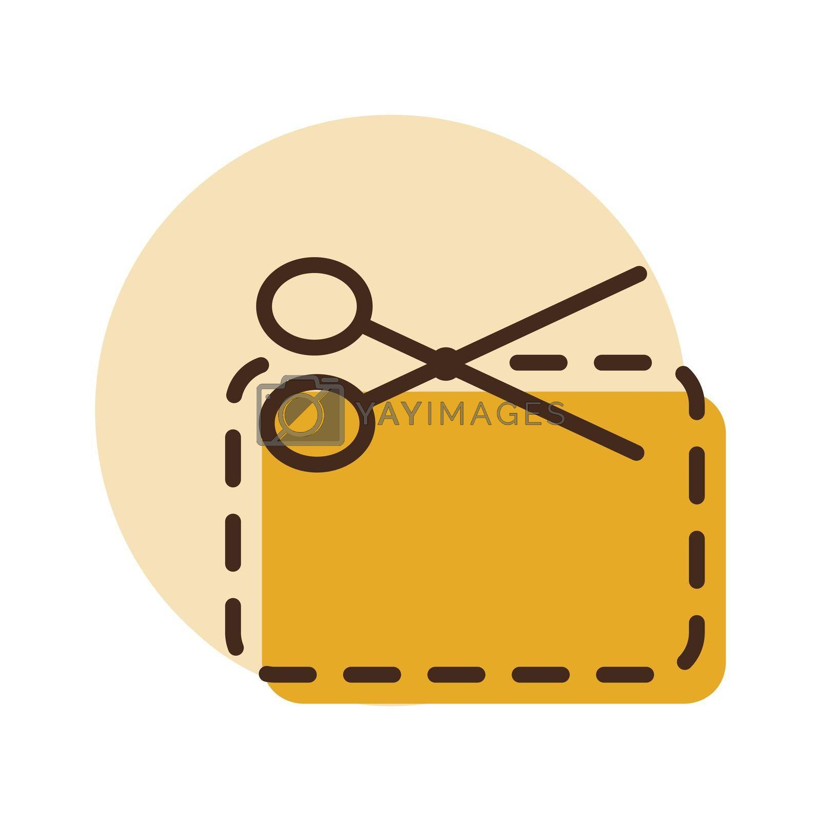 Coupon cutting icon. E-commerce sign. Graph symbol for your web site design, logo, app, UI. Vector illustration, EPS10.