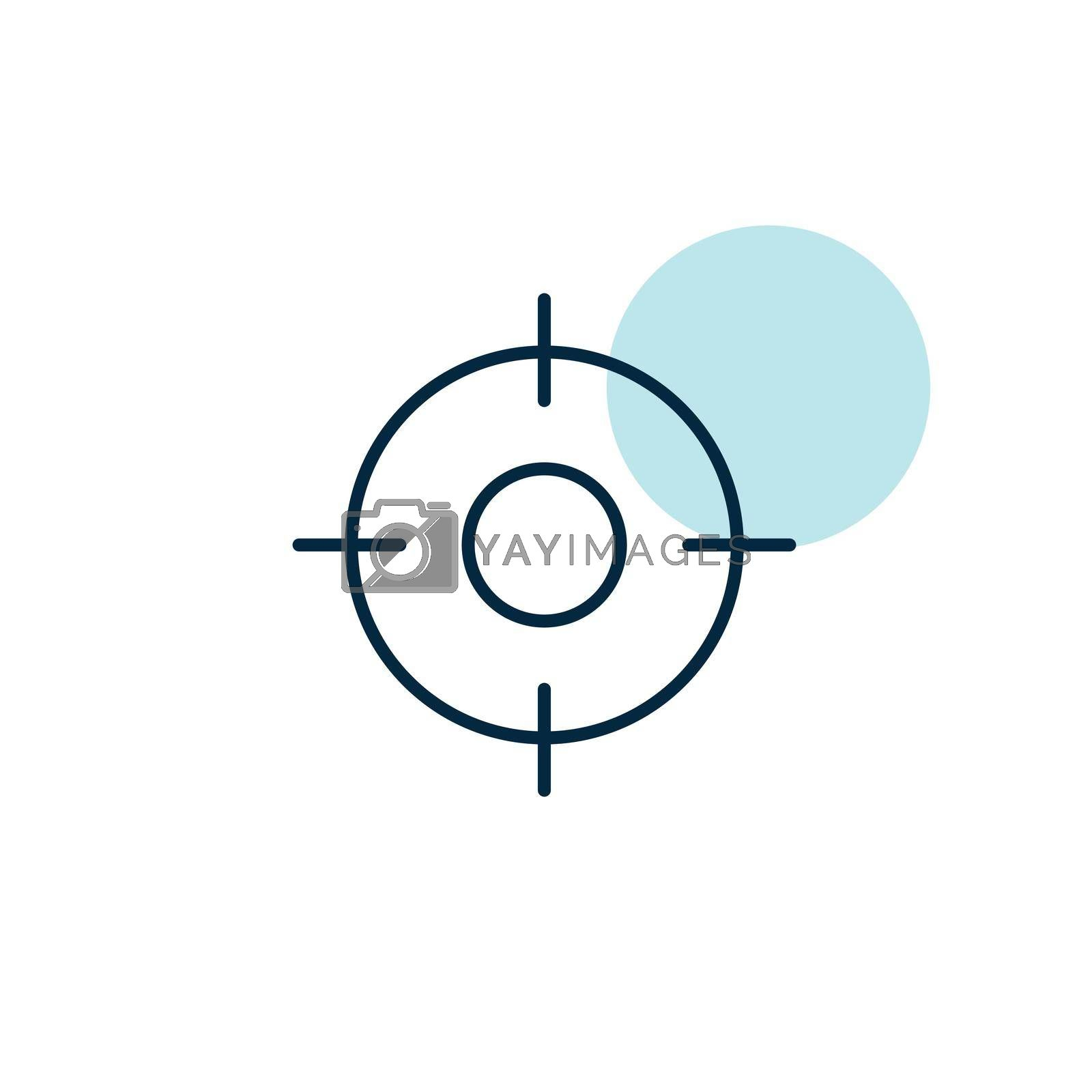 Crosshairs target destination vector icon. Navigation sign. Graph symbol for travel and tourism web site and apps design, logo, app, UI