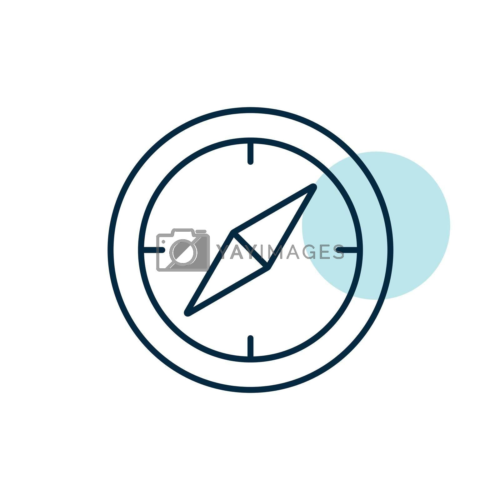 Compas vector icon. Navigation sign. Graph symbol for travel and tourism web site and apps design, logo, app, UI