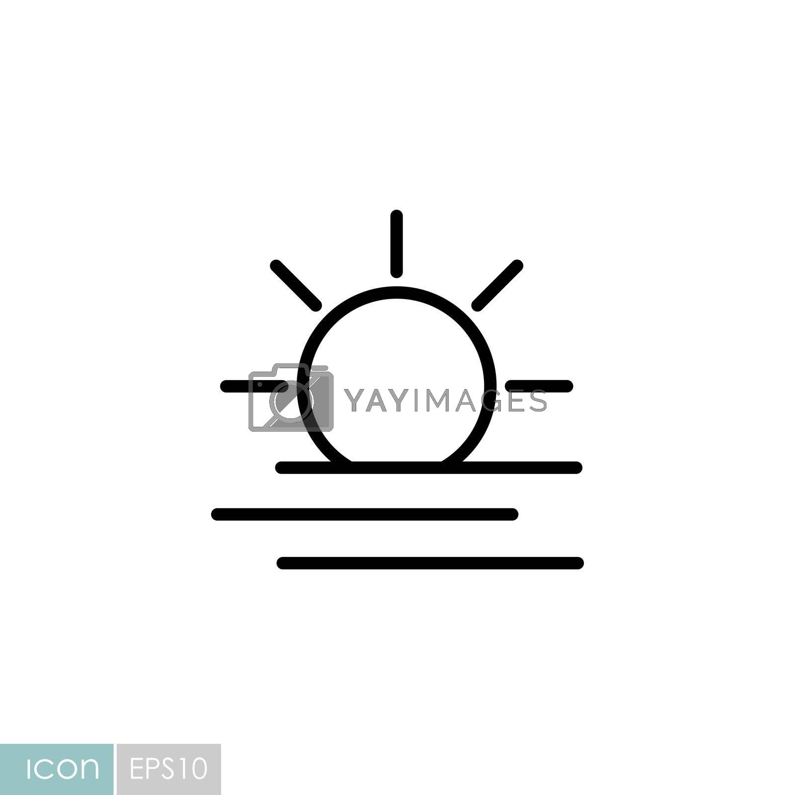 Summer sun heat vector icon. Meteorology sign. Graph symbol for travel, tourism and weather web site and apps design, logo, app, UI