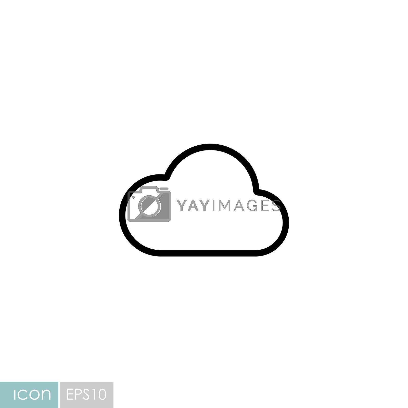 Cloud vector icon. Meteorology sign. Graph symbol for travel, tourism and weather web site and apps design, logo, app, UI