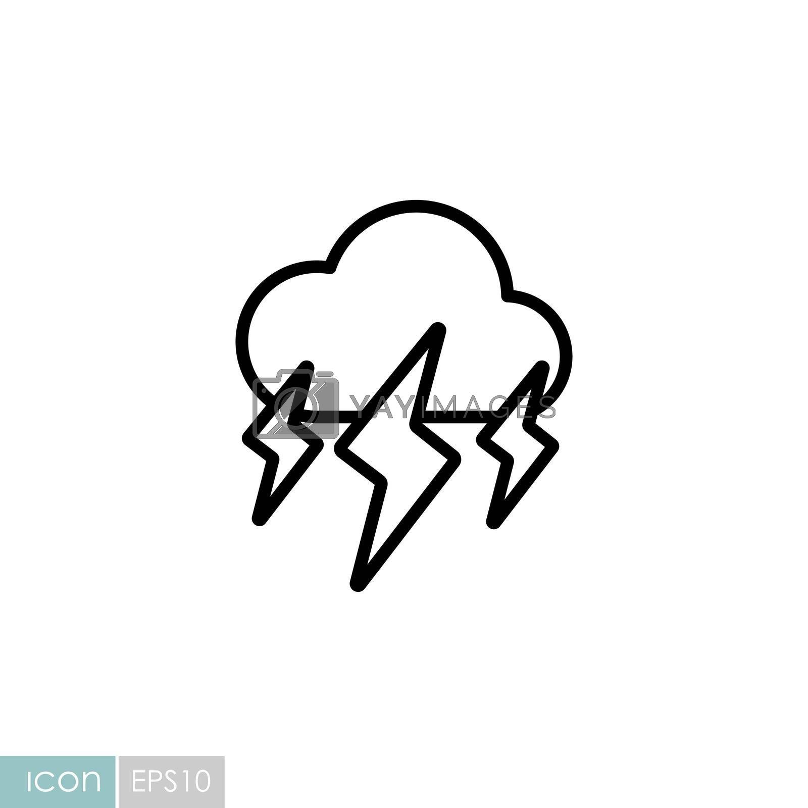 Storm cloud vector icon. Rainstorm symbol. Meteorology sign. Graph symbol for travel, tourism and weather web site and apps design, logo, app, UI