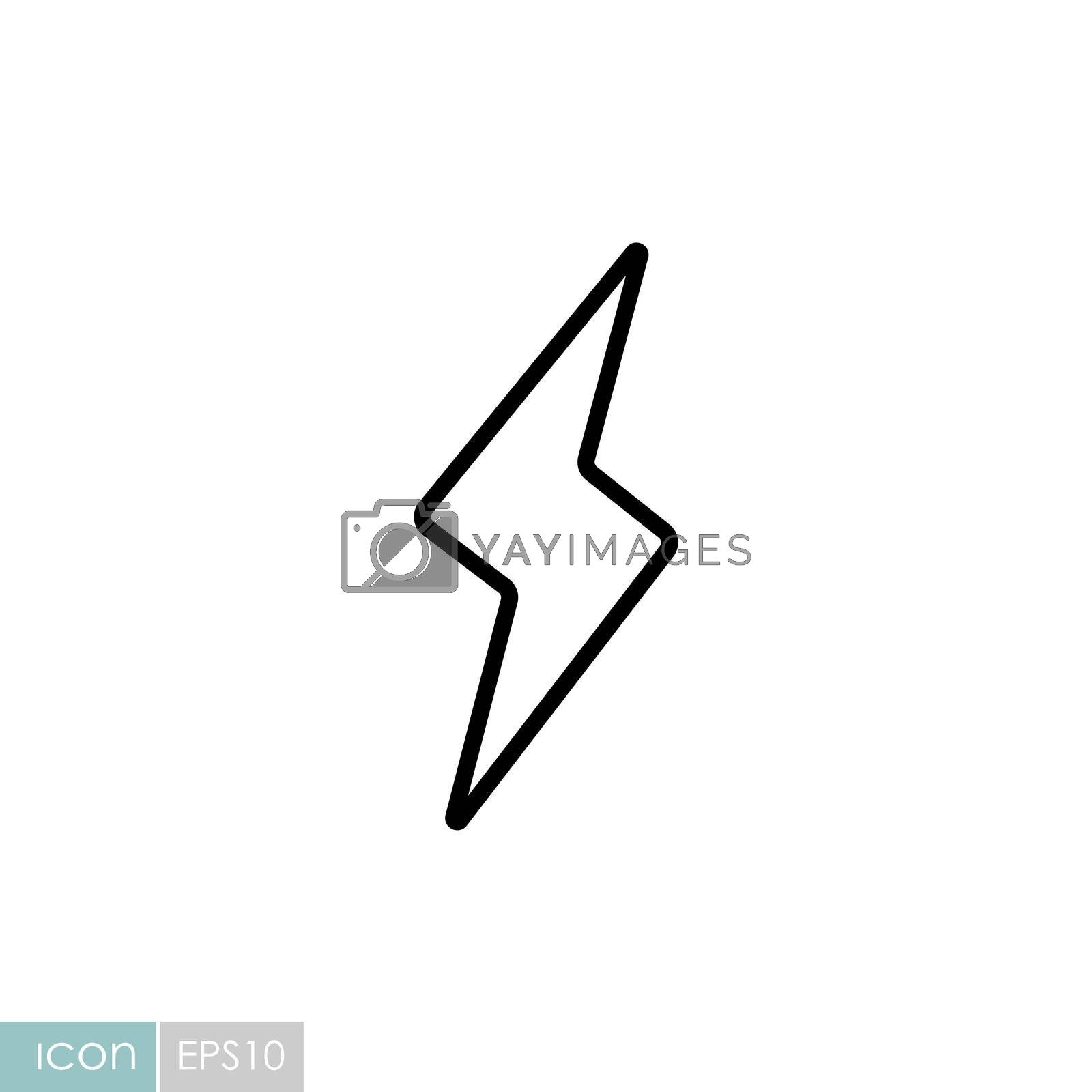 Lightning vector icon. Meteorology sign. Graph symbol for travel, tourism and weather web site and apps design, logo, app, UI