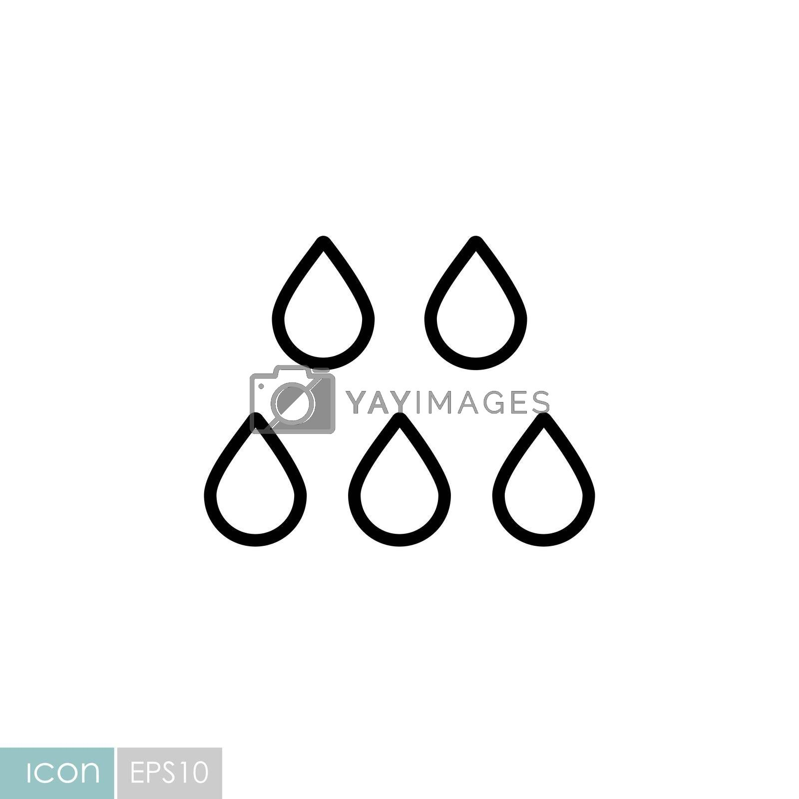 Drop water vector icon. Weather sign by nosik