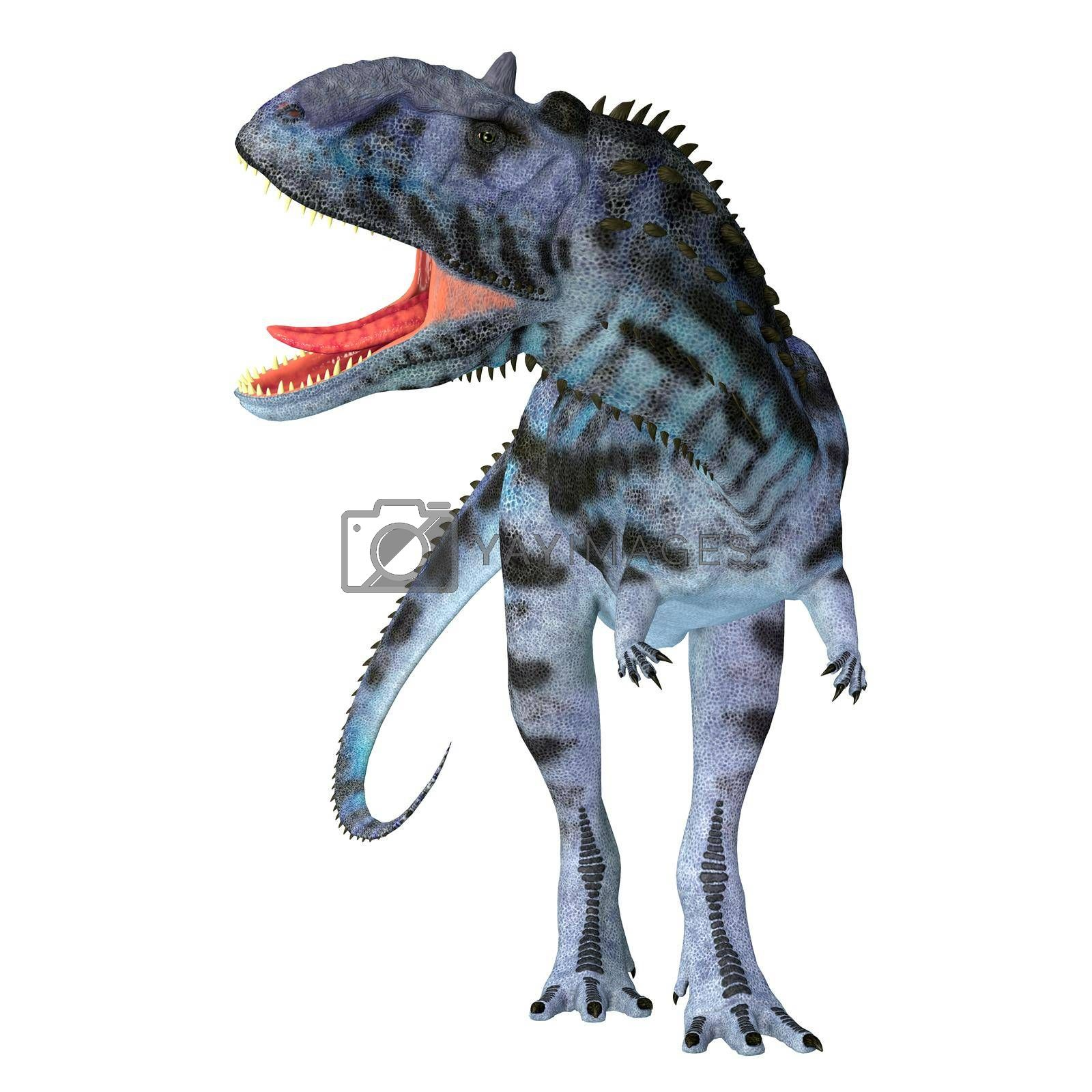 Majungasaurus was a carnivorous theropod dinosaur that lived in Madagascar during the Cretaceous Period.