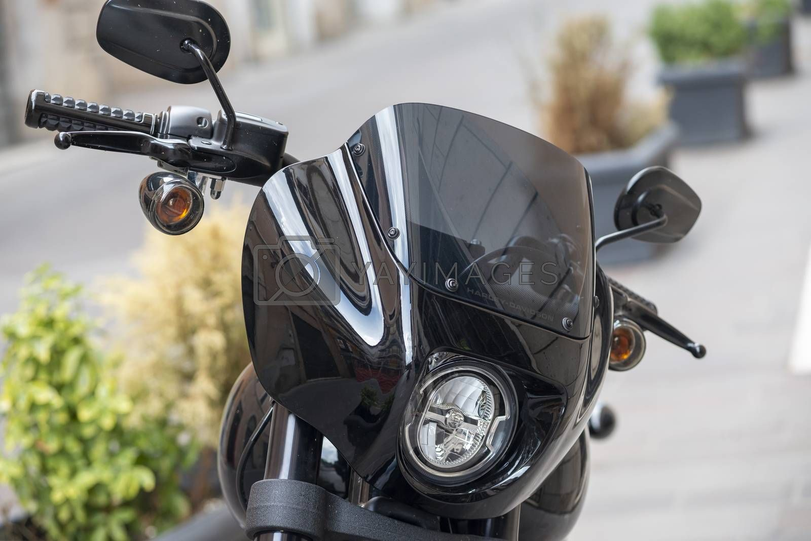 terni,italy august 16 2020:details of a harley davidson park