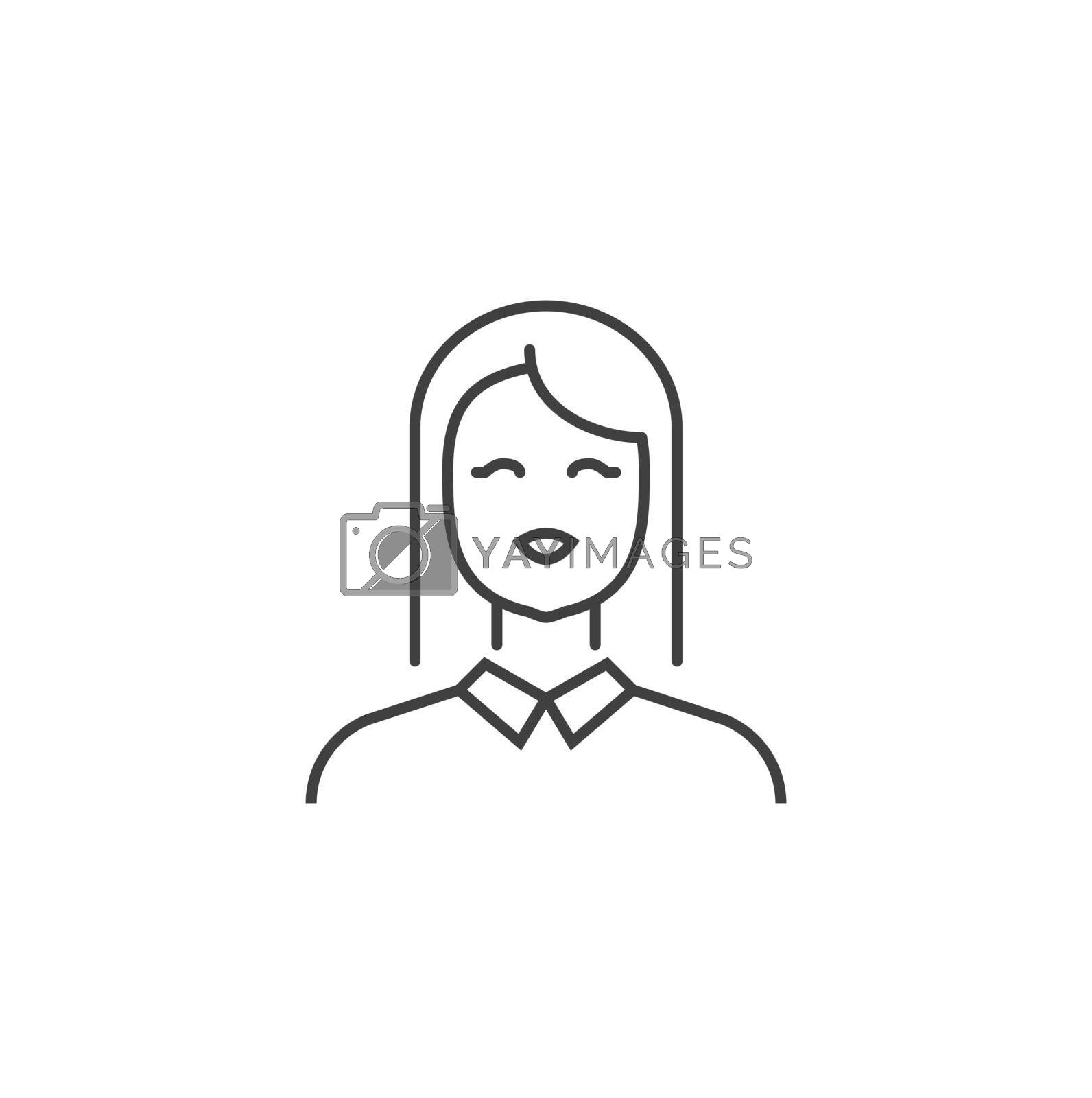 Employee Thin Line Vector Icon. Flat Icon Isolated on the Black Background. Editable Stroke EPS file. Vector illustration.