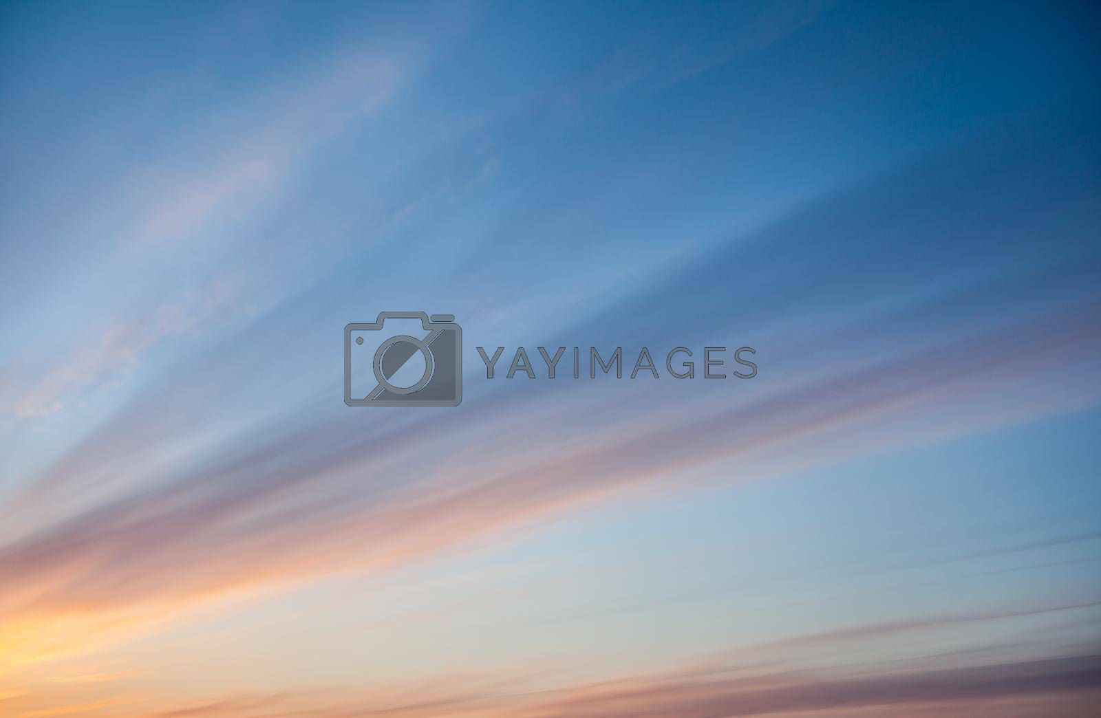 Colorful sunset or sunrise in the sky. Beautiful background. by AnatoliiFoto