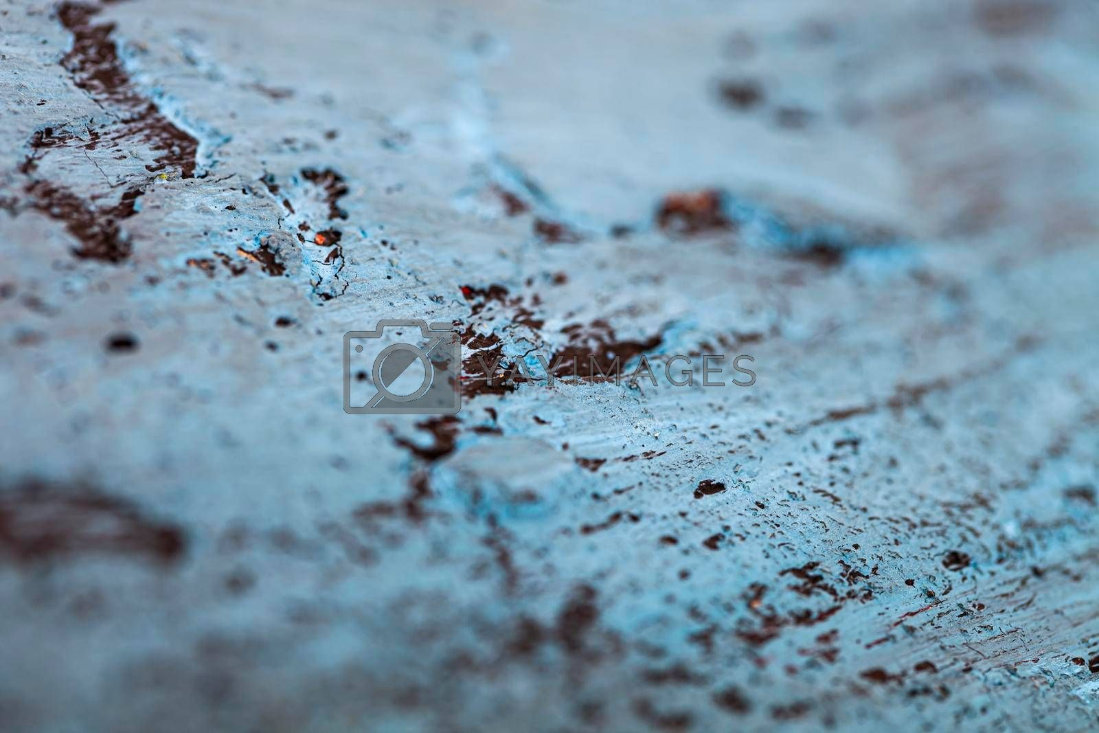 Texture of the concrete wall. Blue and black colors. Backgrounds Textures.