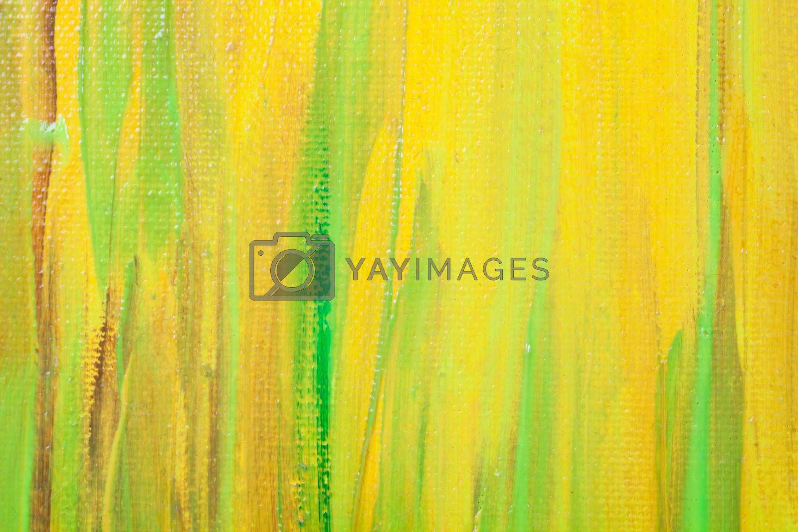 Yellow and green colored wall texture background. Decorative wall paint.
