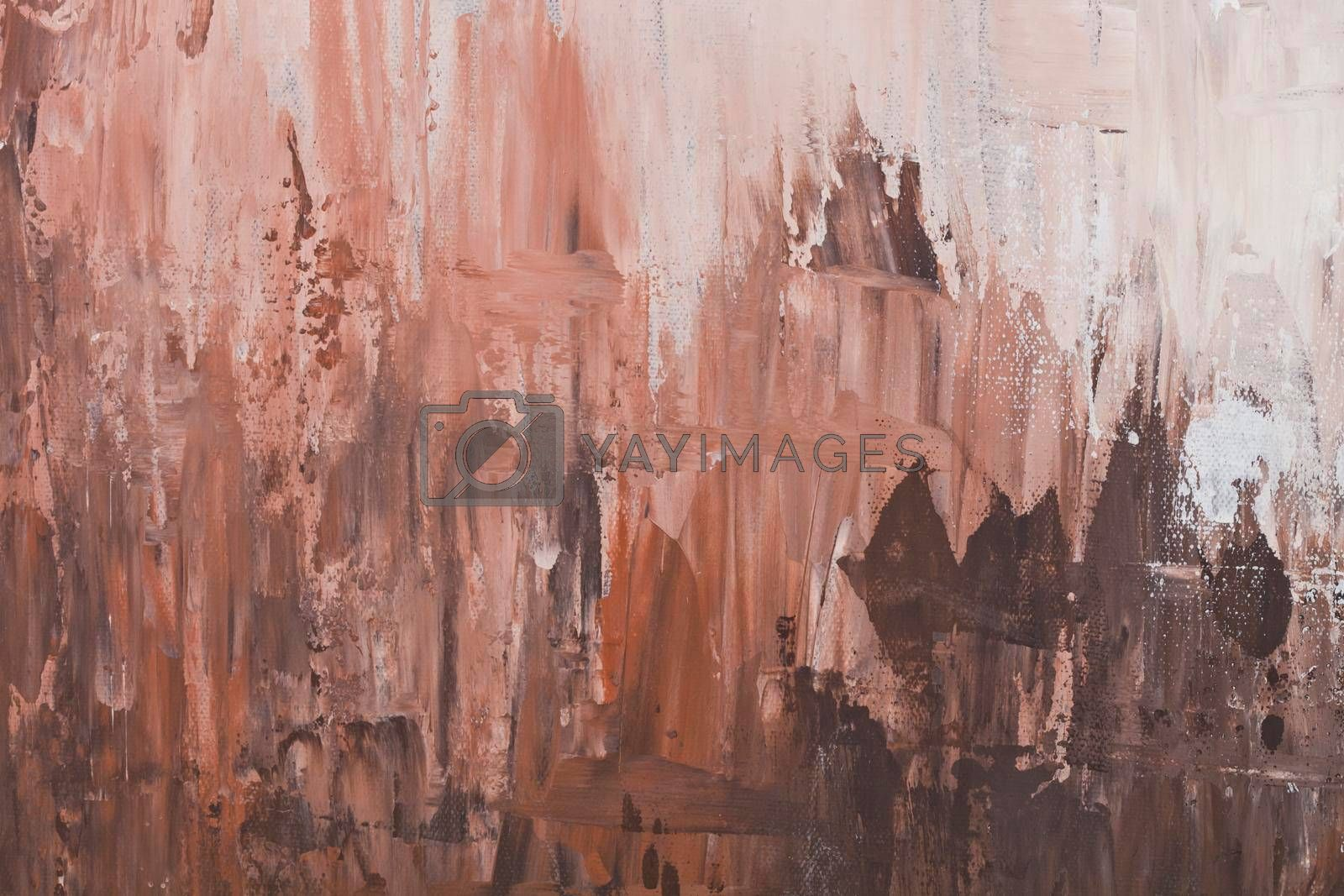 Brown and beige shades colored wall texture background. Decorative wall paint.