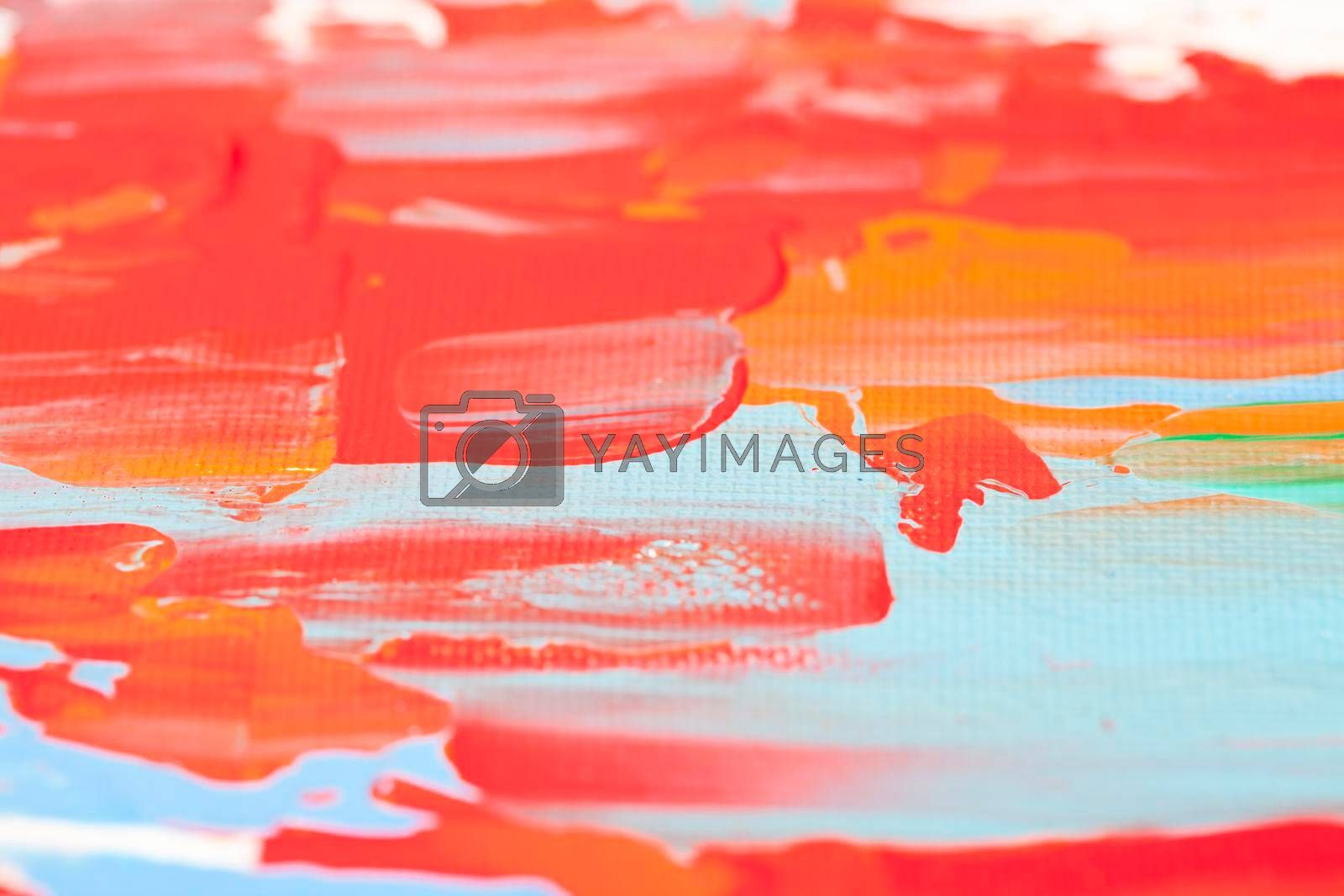 Red and blue colored wall texture background. Decorative wall paint.
