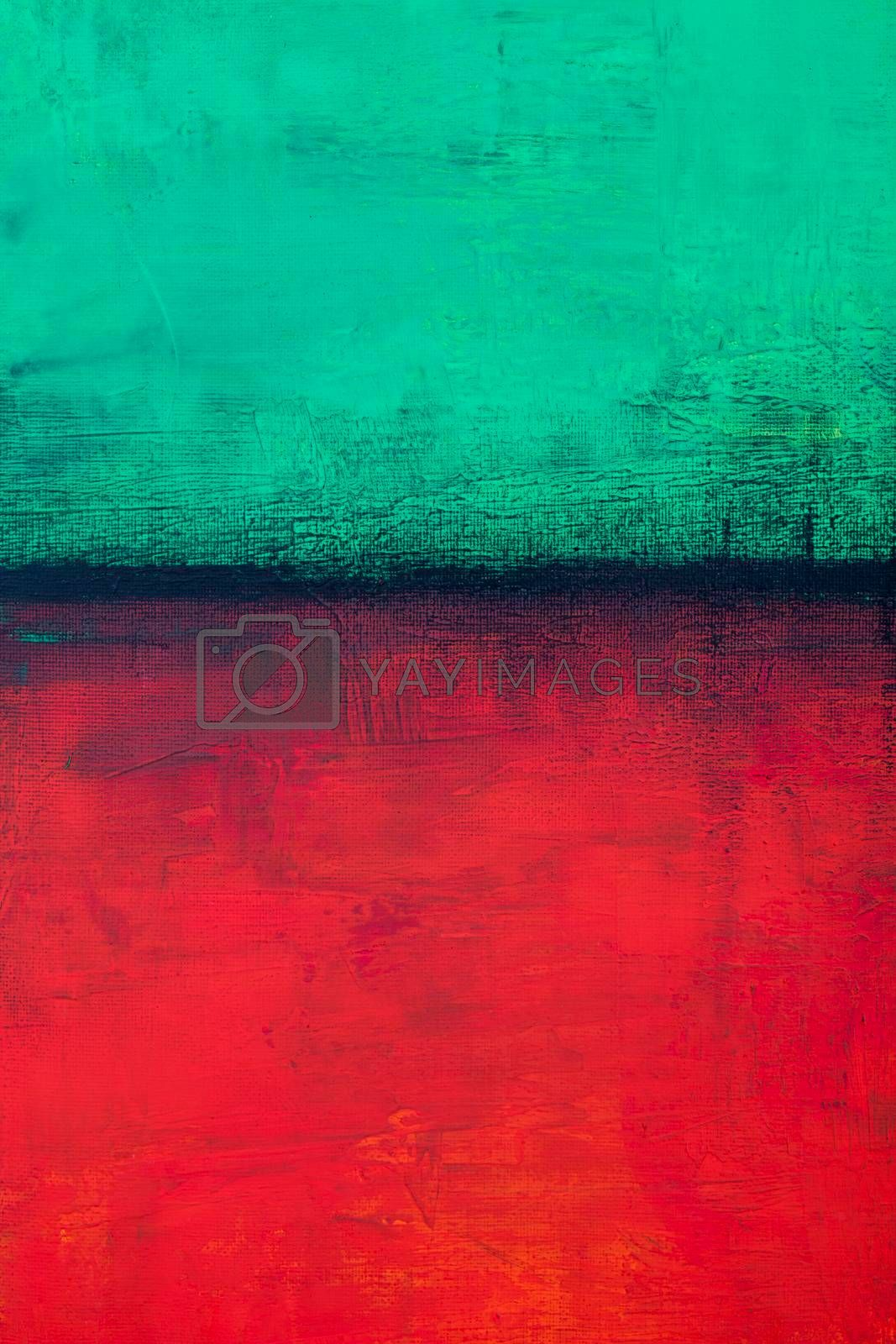 Green and red grunge colored texture background. Decorative painting.