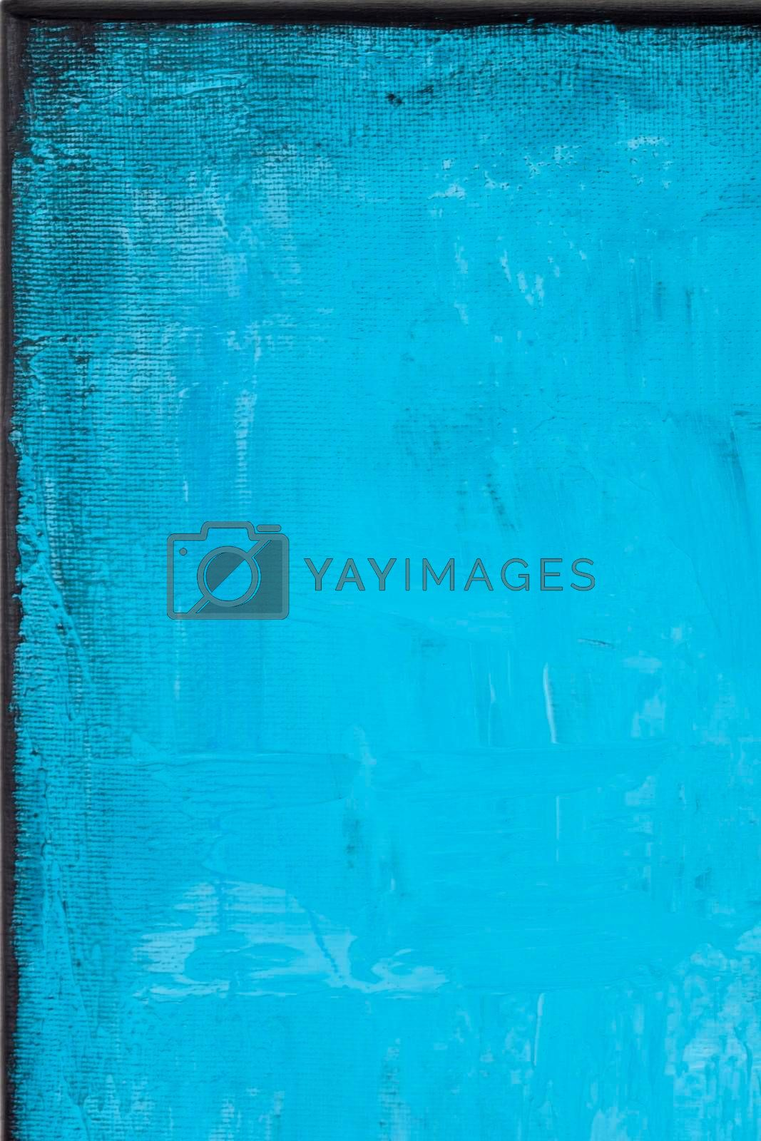 Blue grunge colored texture background. Decorative painting.