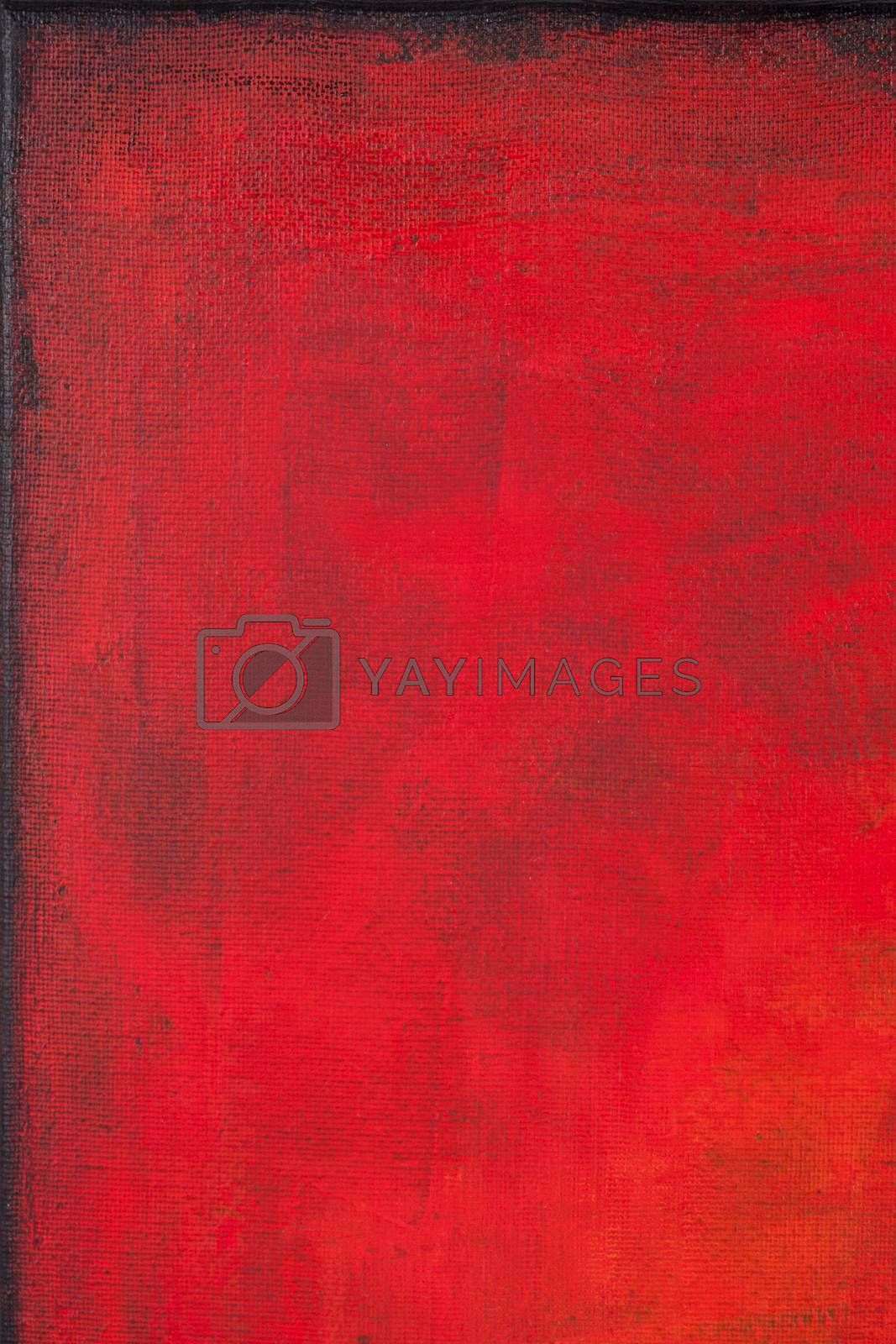 Red colored wall texture background. Decorative wall paint.