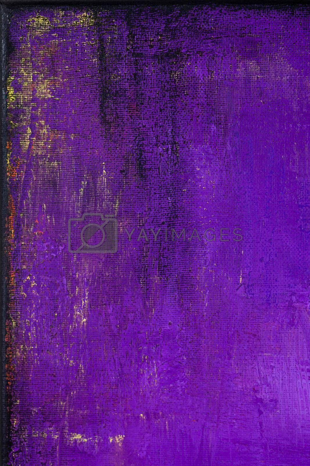 Purple grunge colored texture background. Decorative painting.