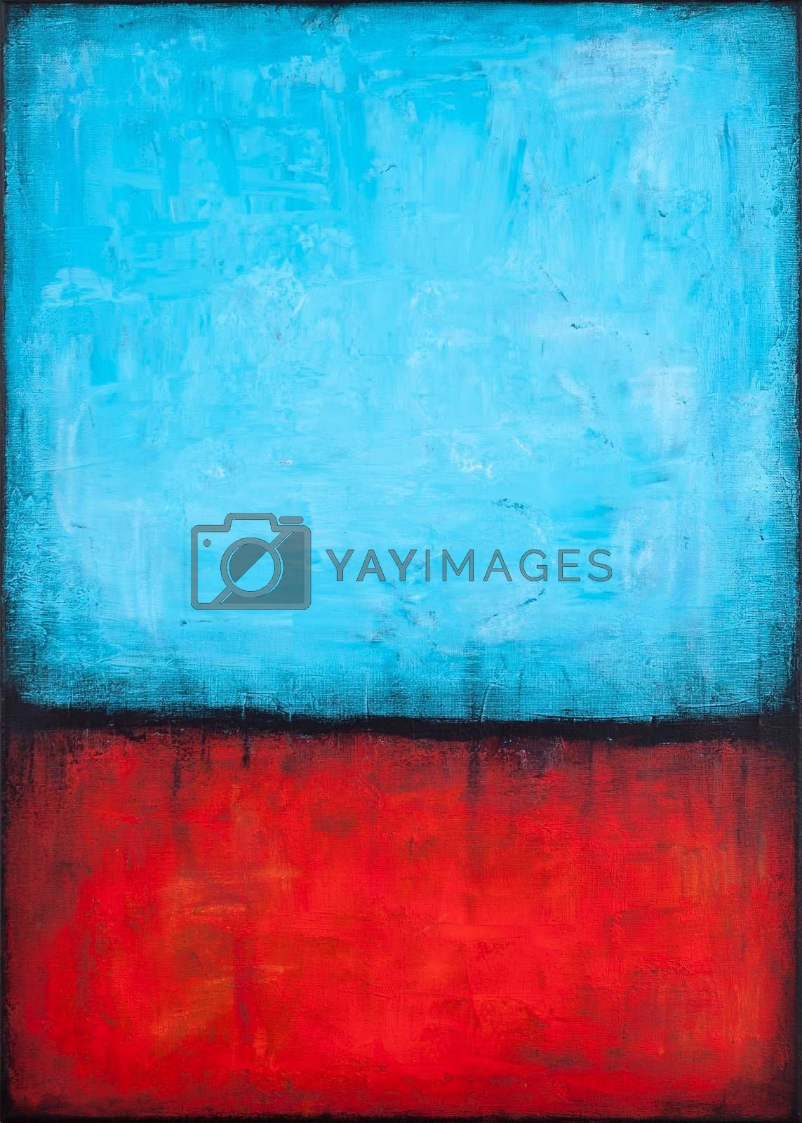 Blue and red grunge colored texture background. Decorative painting.