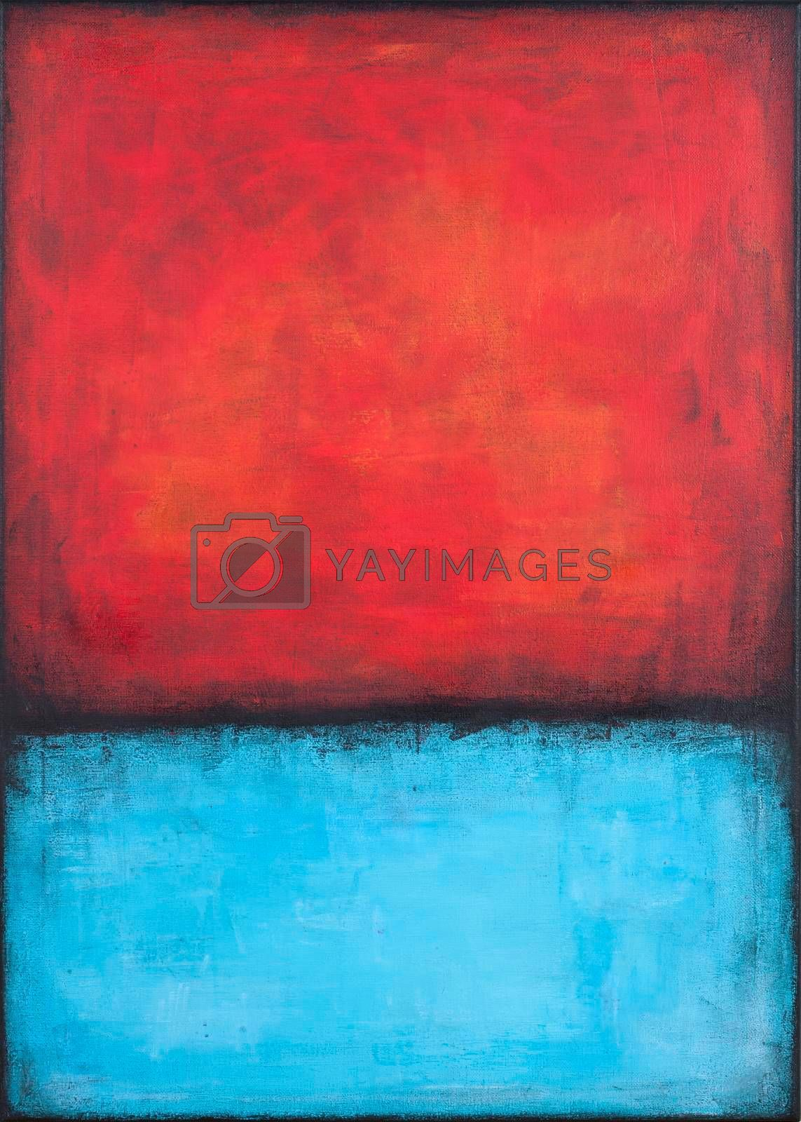 Red and blue grunge colored texture background. Decorative painting.