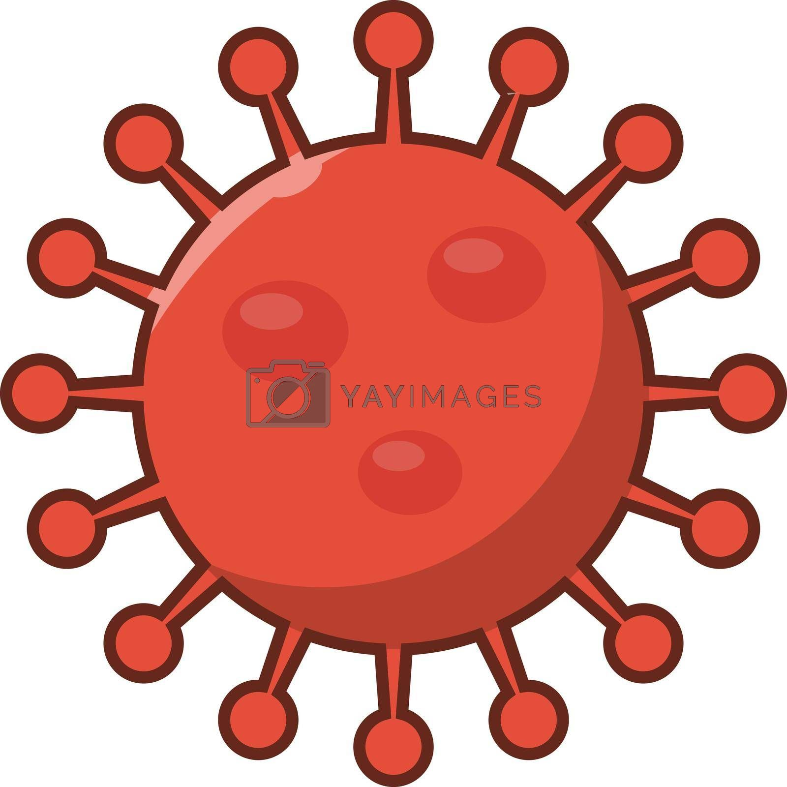 virus vector flat color icon