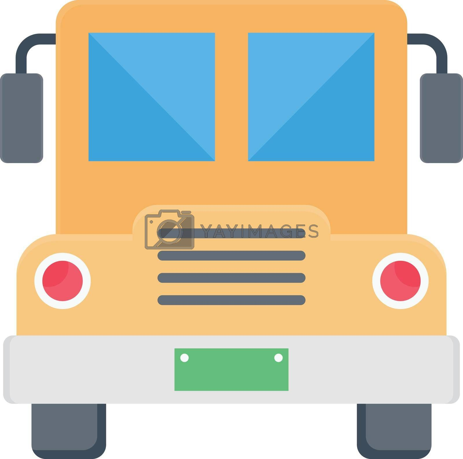 bus vector colour flat icon