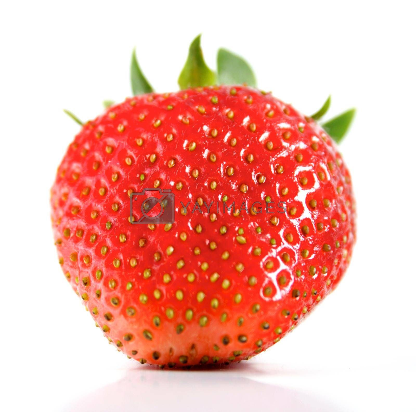 Strawberry on white background - close-up