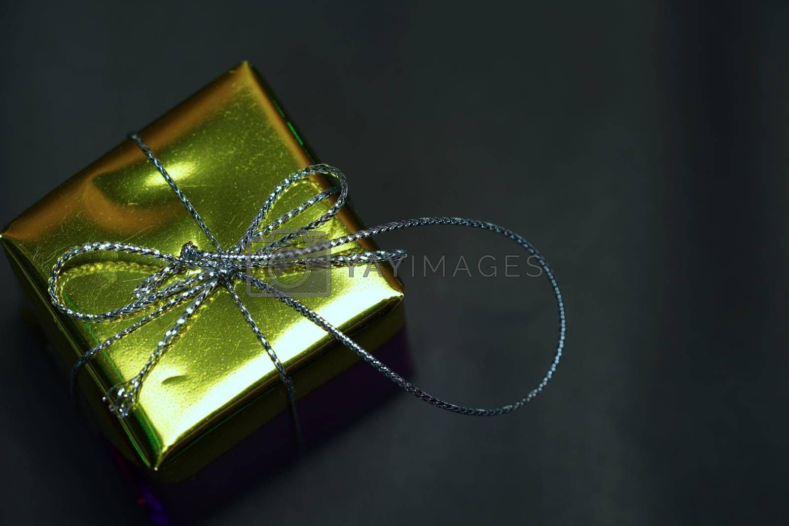 Abstract luxury gift box concept festive celebration.