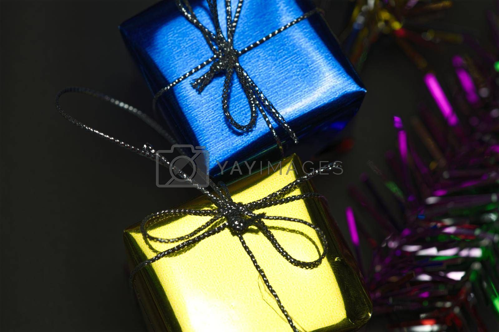 Abstract luxury gift box concept festive celebration. by noppha80