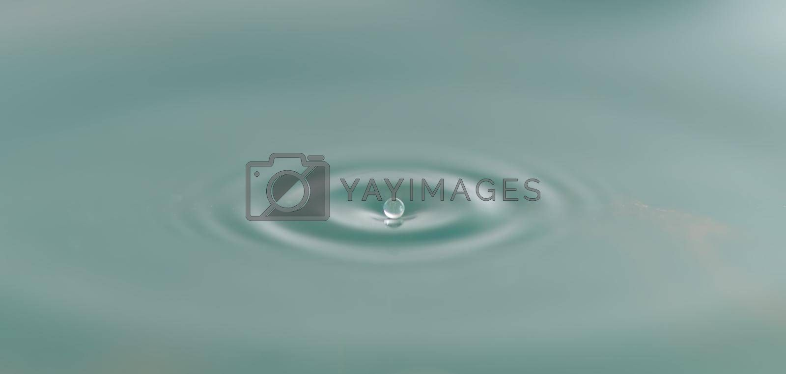 Abstract Water Drop Sphere Background Image Blue Tone Select Focus Water Drop