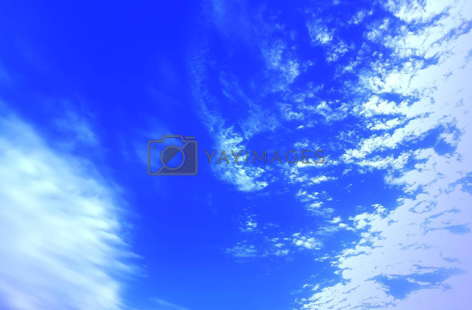 Cloudy sky background Intensively Selective focus.