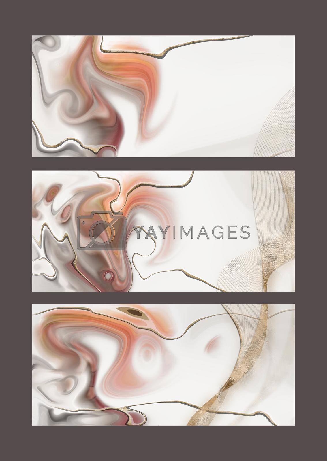 Pastel fluid marble pattern by NelliPolk