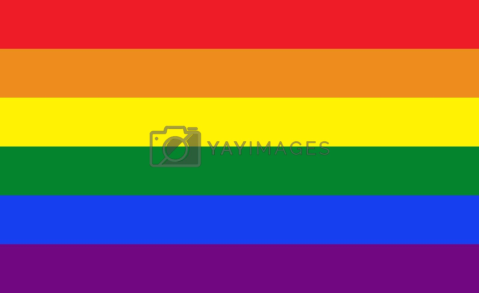 Pride flag illustration. Lgbt community symbol in rainbow colors. Vector backdrop for your design.
