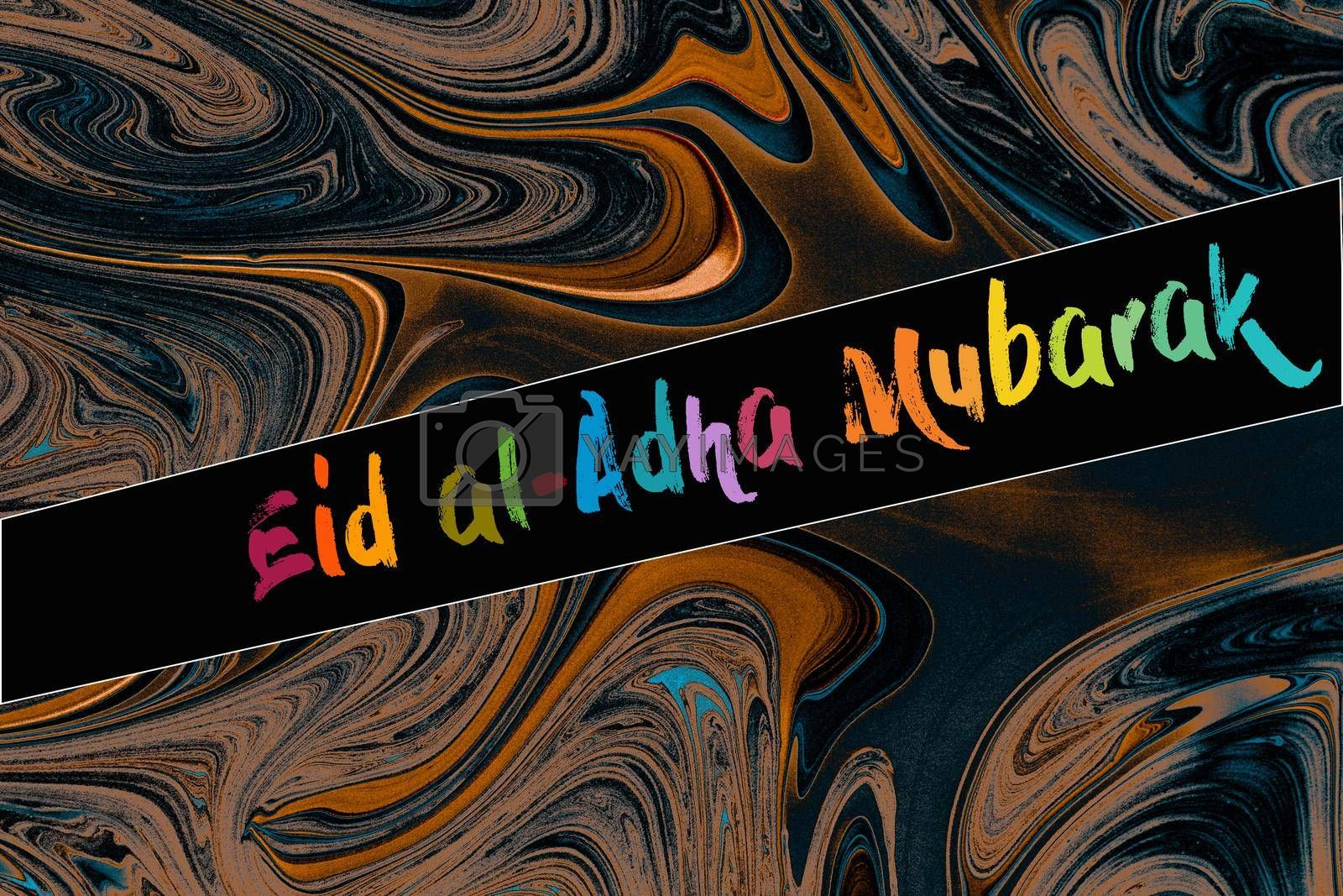festival of sacrifice Happy Eid al-Adha. Eid Mubarak greeting Card.