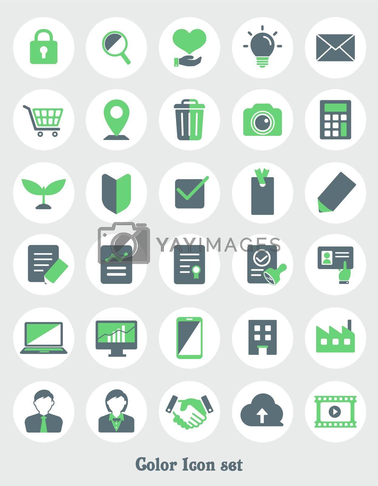 2 tones color vector icon illustration set ( for web designing etc.)