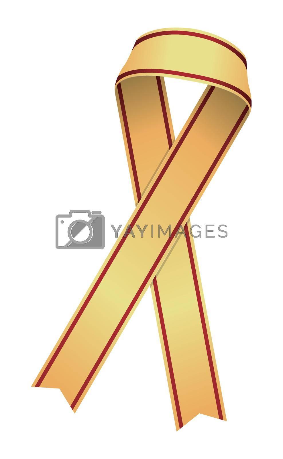 Awareness ribbon illustration