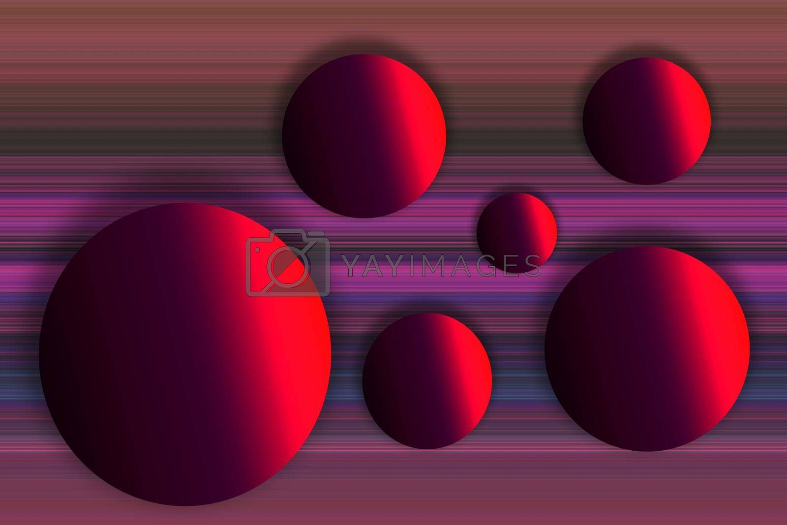 Modern futuristic abstract  geometric sphere gradient shapes