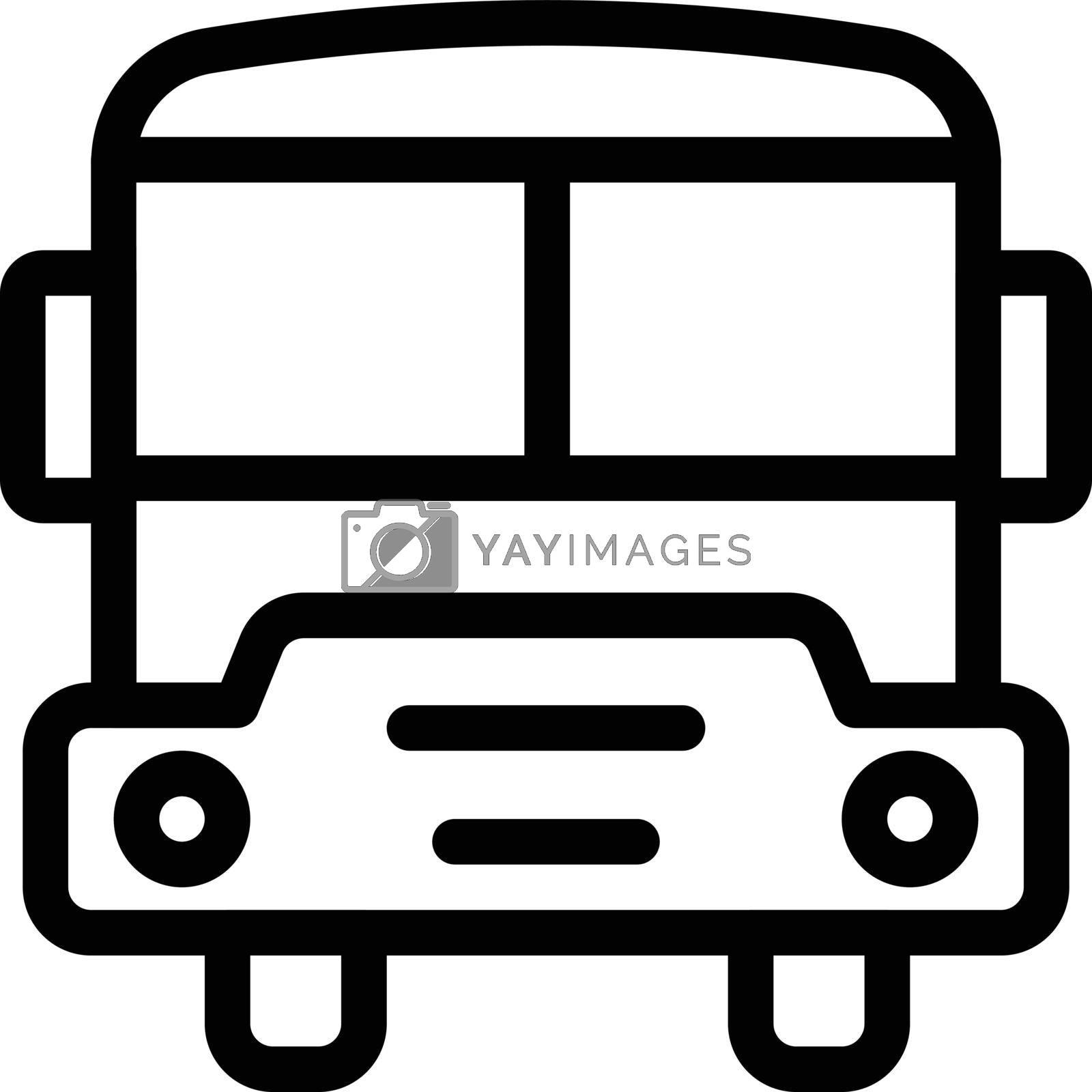 bus vector thin line icon