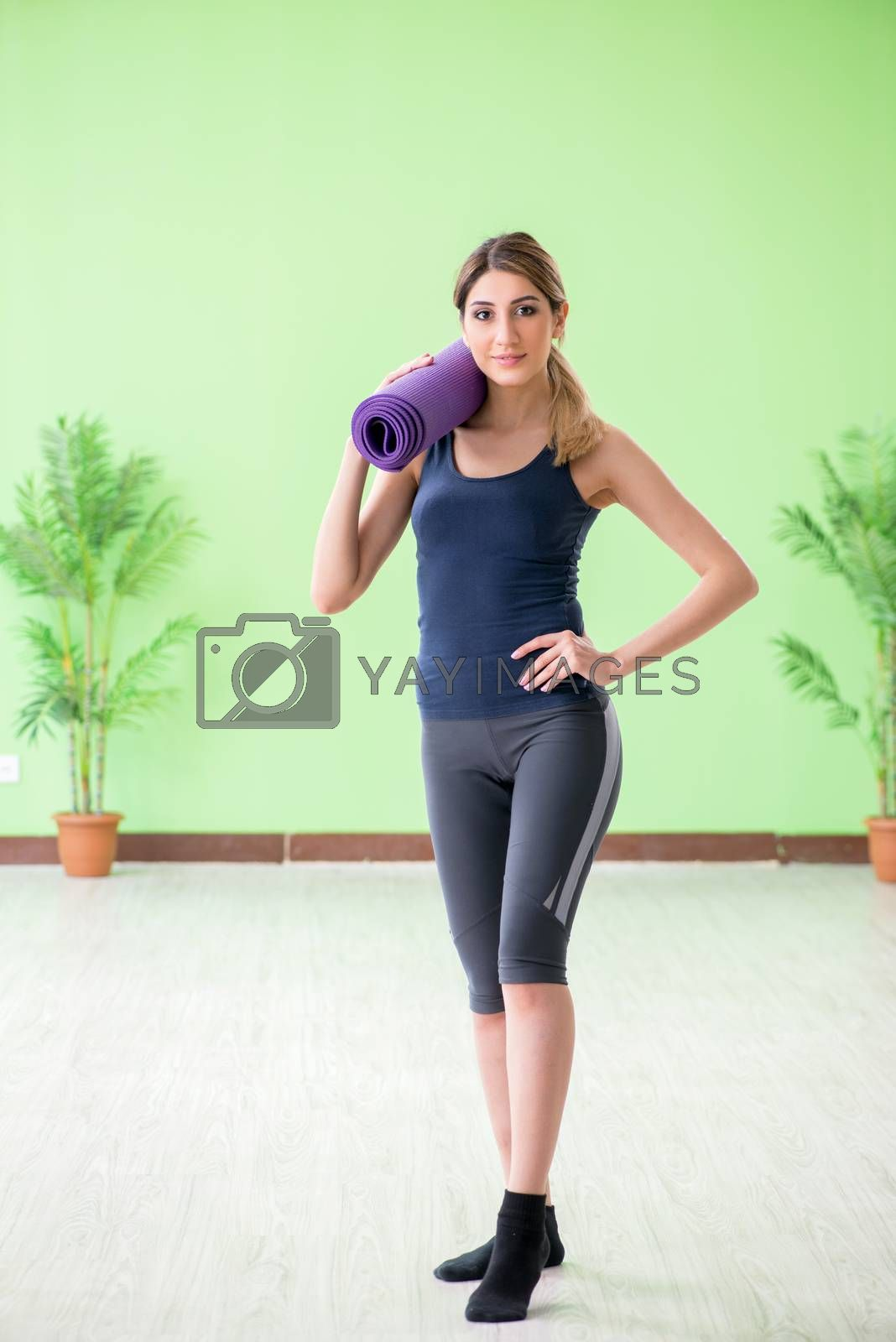 Woman doing exercises at home