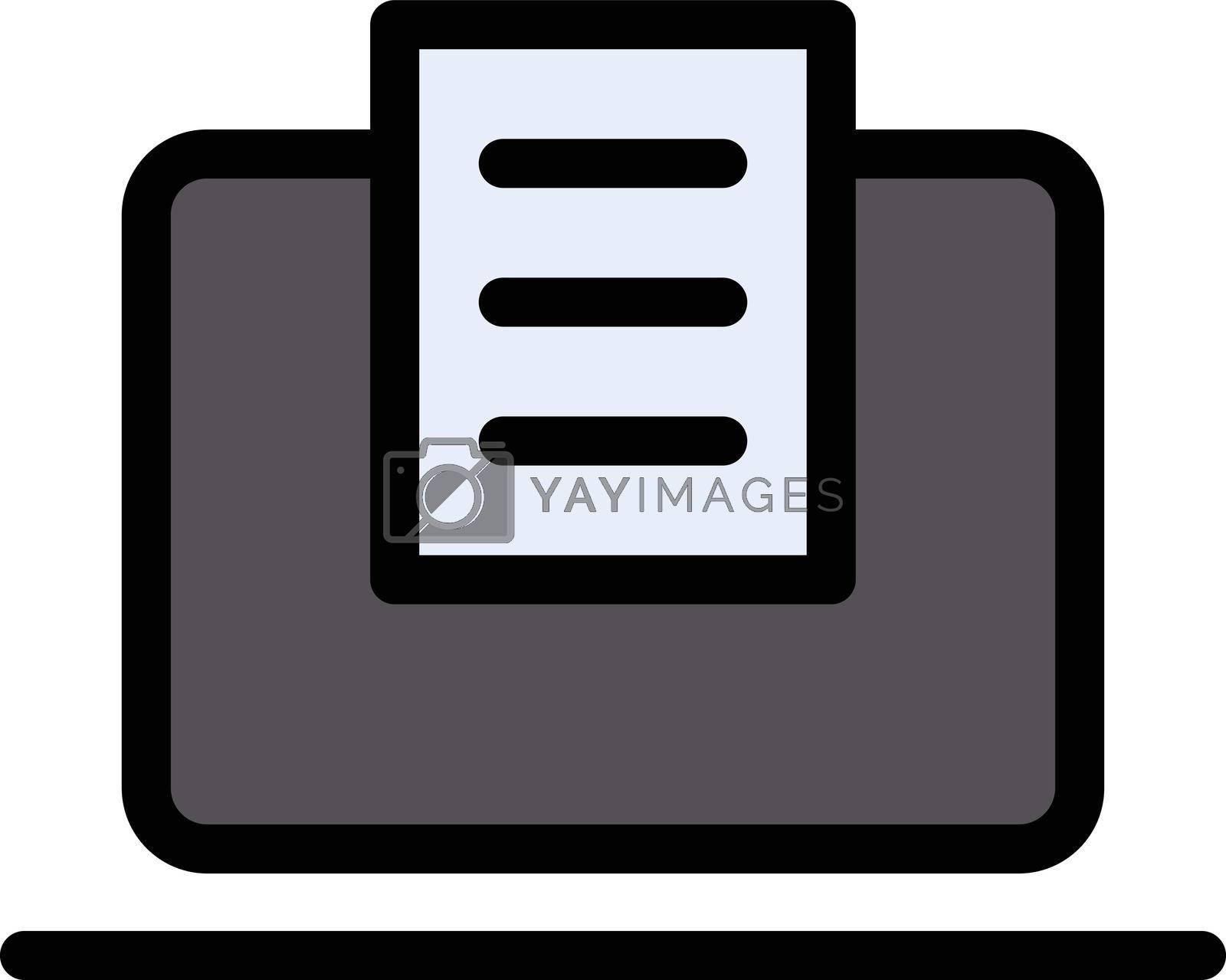 online education vector line colour icon