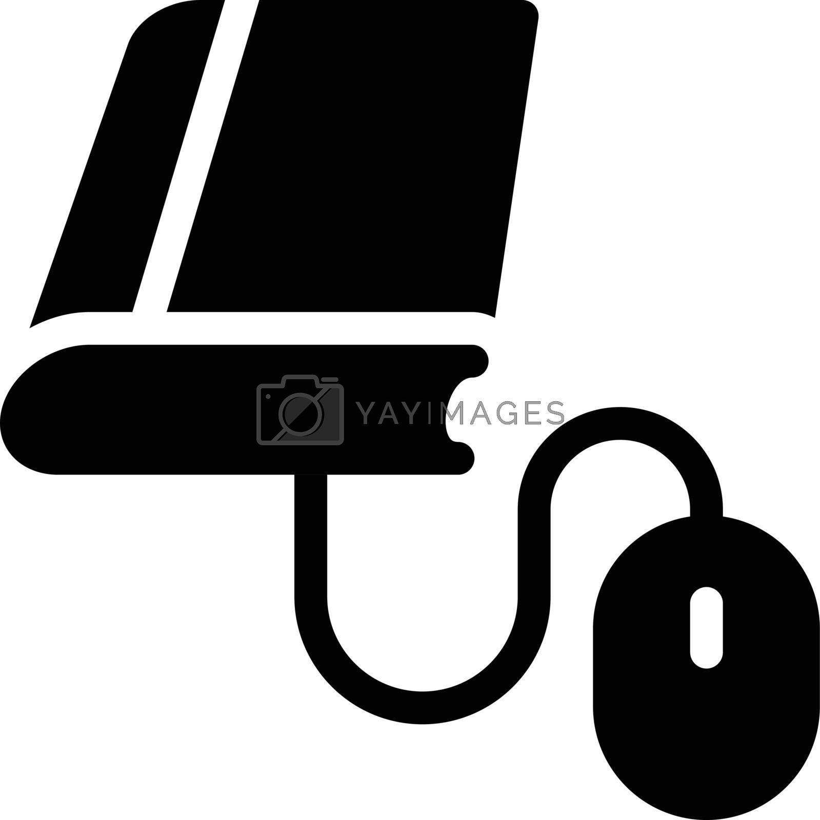online education vector glyph flat icon
