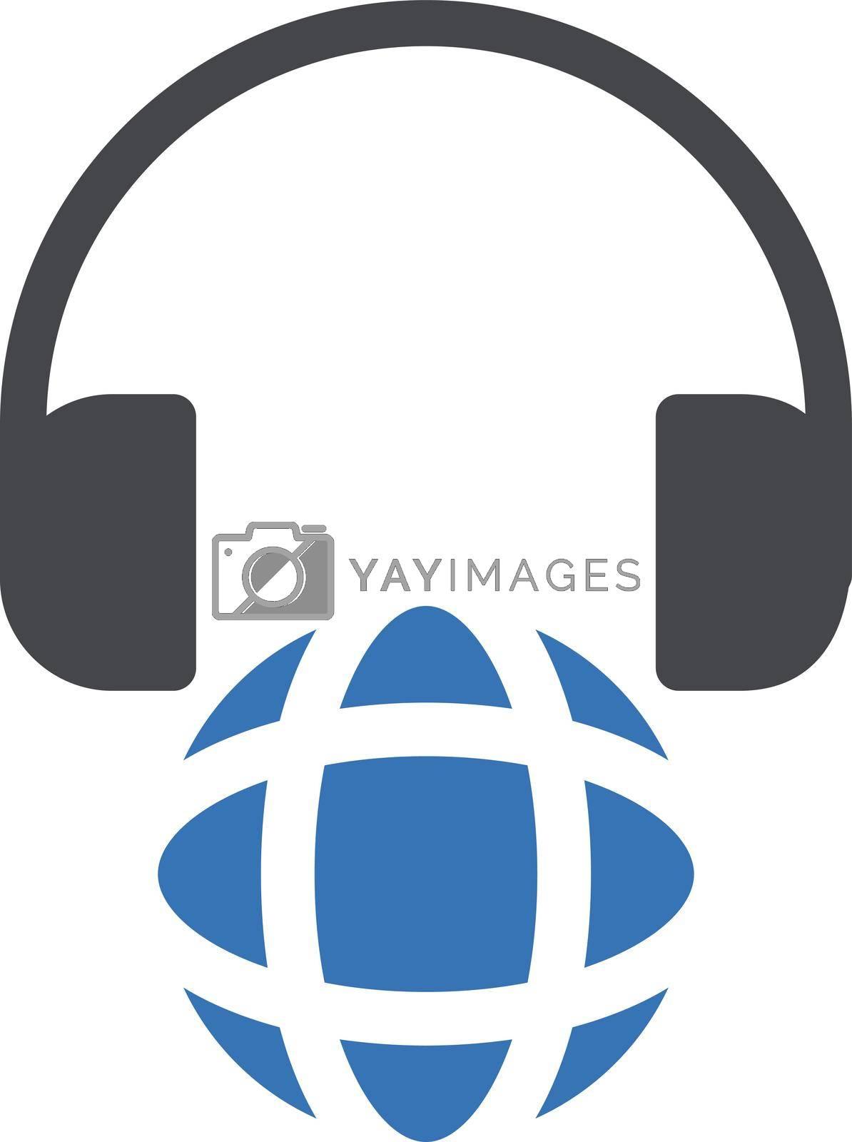 online education vector glyph colour icon