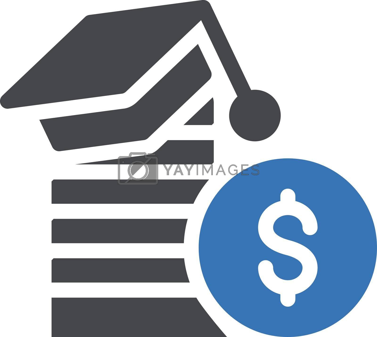 dollar education vector glyph colour icon