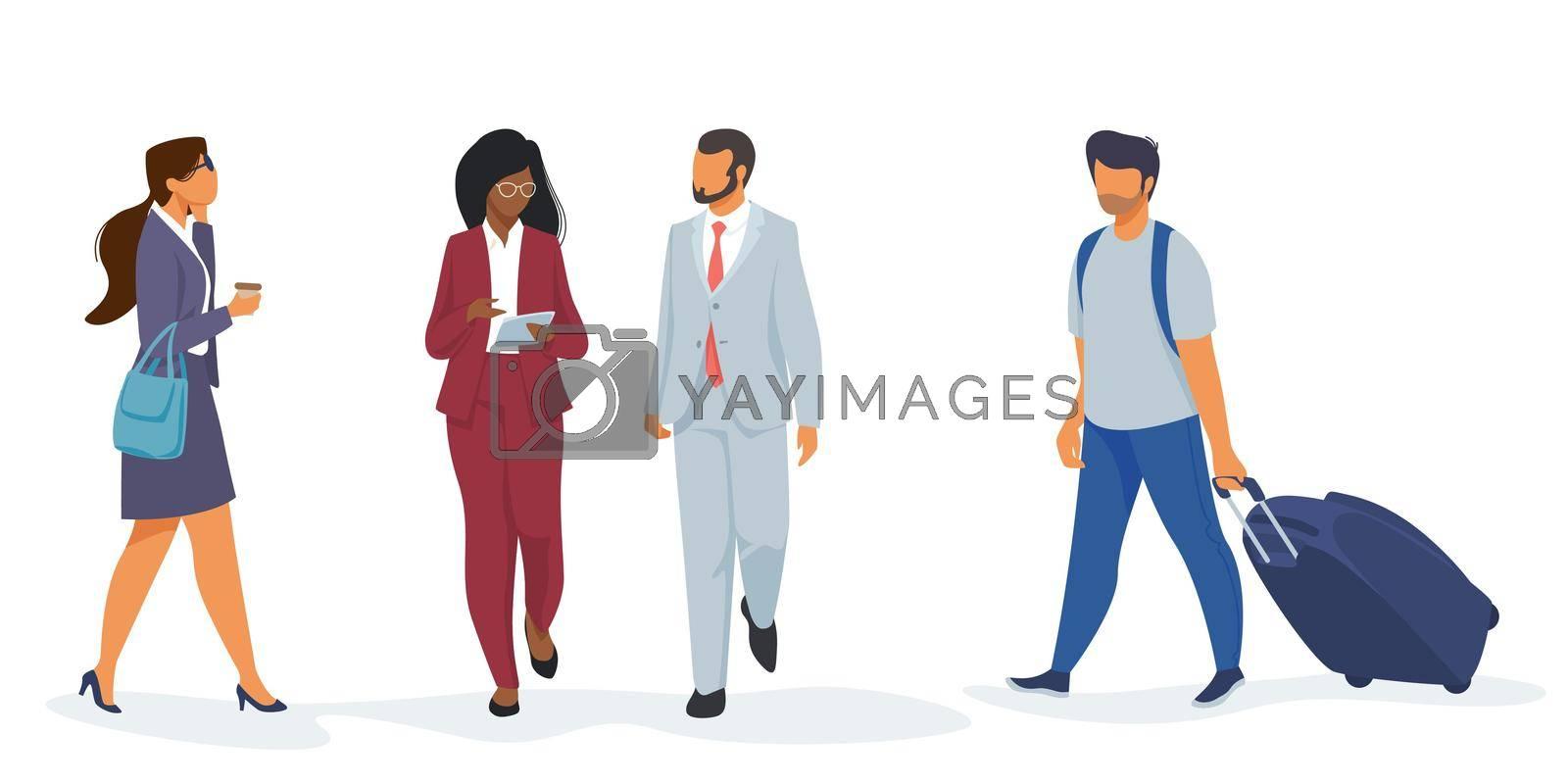 Royalty free image of Set of people in airport by mstjahanara