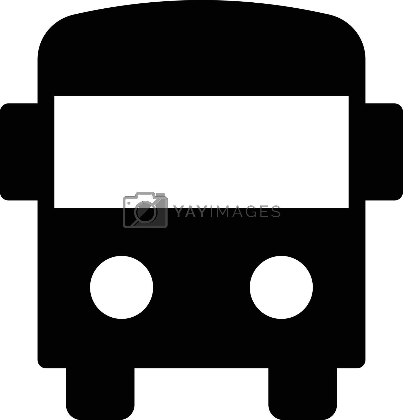 school bus vector glyph flat icon